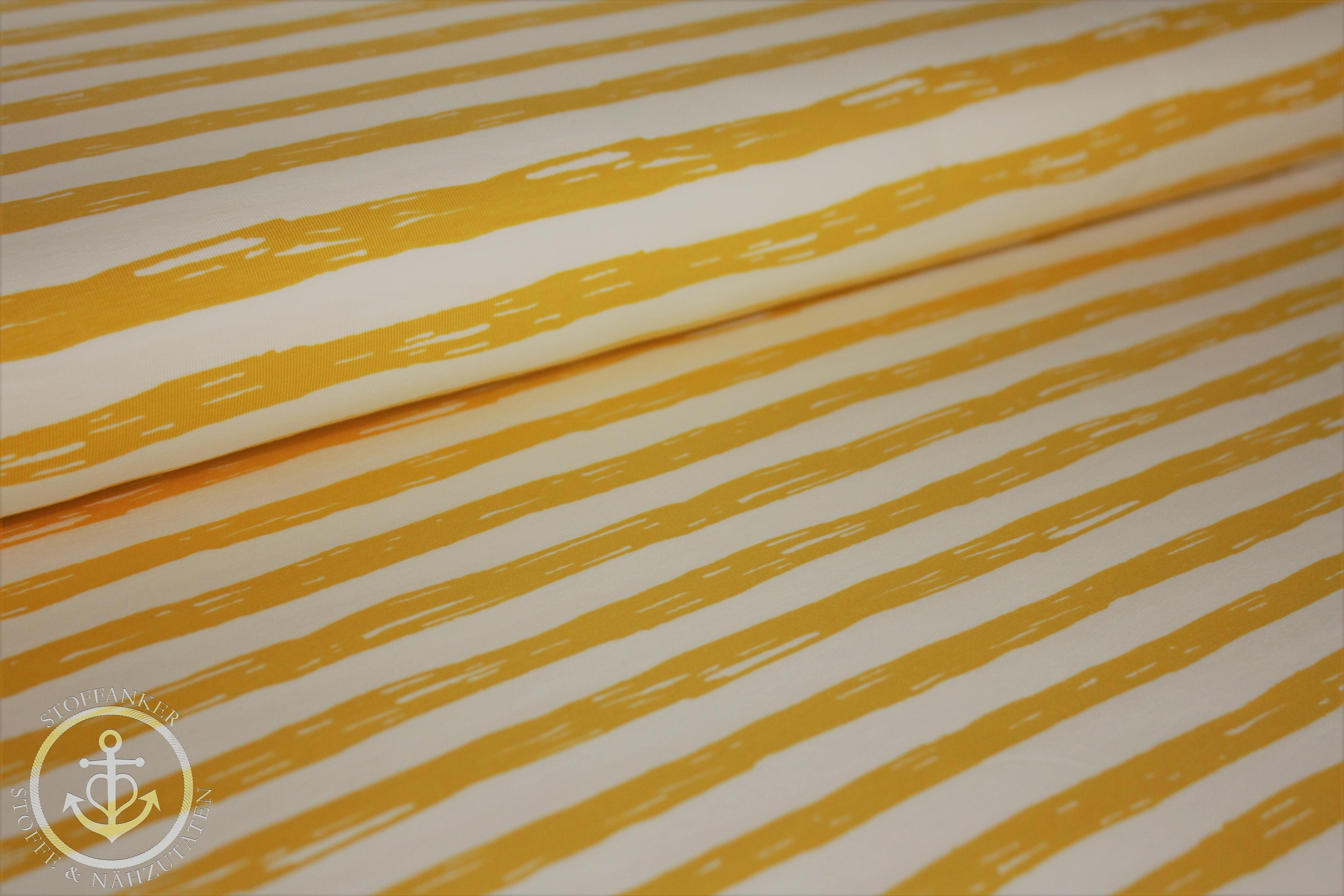 5 Meter Stoff 1,40 m breit nur 2,60 pro Meter Streifen weiß gelb grau